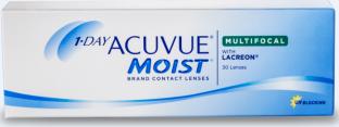 30 lenslik ambalaj. LACREON® Teknolojisi ve UV Blokajına sahip 1-DAY ACUVUE ® MOIST Marka MULTIFOCAL Kontakt Lensler